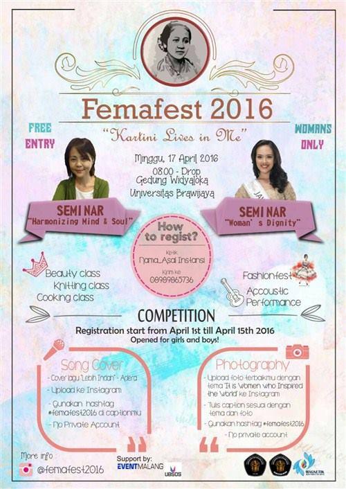 Femafest 2016 poster